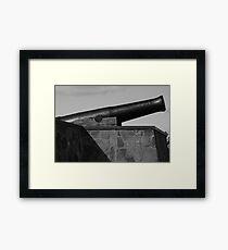 Cannon in Black Framed Print