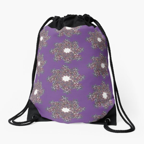 Abstract pattern Drawstring Bag