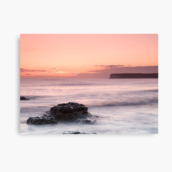 Sunset at Birling Gap Canvas Print