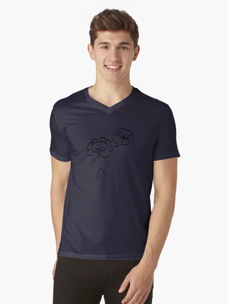 River Song- Bye! (dark outline) Mens V-Neck T-Shirt Front