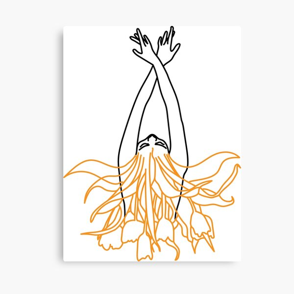 Illustration of an abstract and minimalist siren  Canvas Print