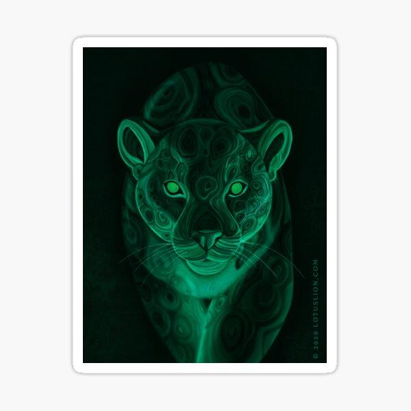 Malachite Jaguar Sticker