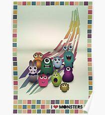 I Love Monsters Poster