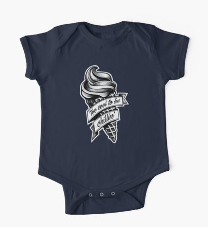 Too Cool... black and white Kids Clothes