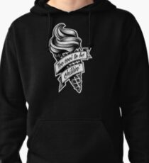 Too Cool... black and white Pullover Hoodie
