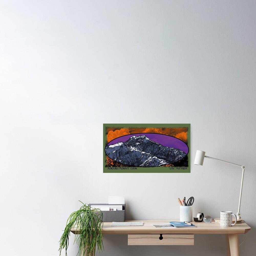aoraki / mt. cook 3,754 metres Poster