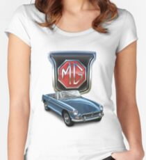 MGB in Blue Women's Fitted Scoop T-Shirt