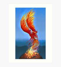 Colours of Fire Art Print