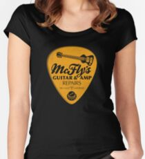 McFly's Repairs - Orange Women's Fitted Scoop T-Shirt