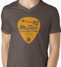 McFly's Repairs - Orange Men's V-Neck T-Shirt