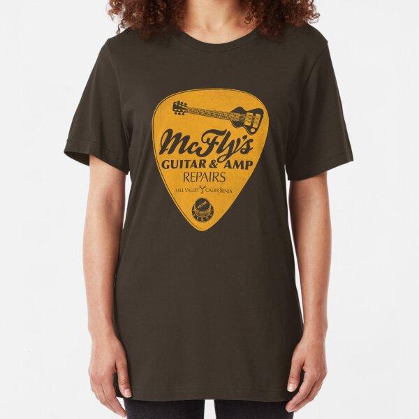 McFly's Repairs - Orange Slim Fit T-Shirt