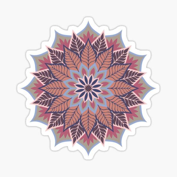 Geometric Rose Gold Mandala Sticker