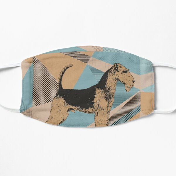 Airedale Terrier Geometric Abstract Mask