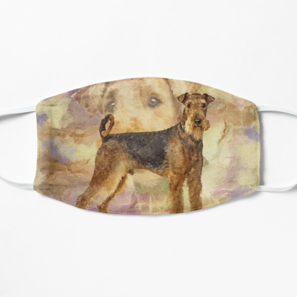 Airedale Terriers Mixed Media Digital art Mask
