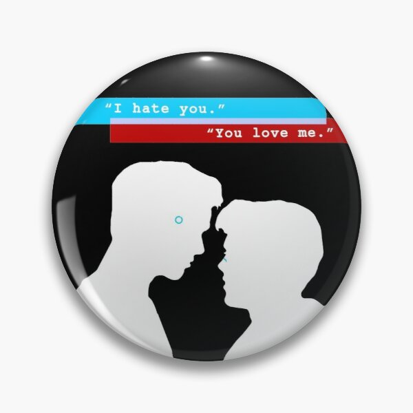 "Reed900 - Detroit Evolution - ""I Hate You/You Love Me"" Design Silhouette Pin"