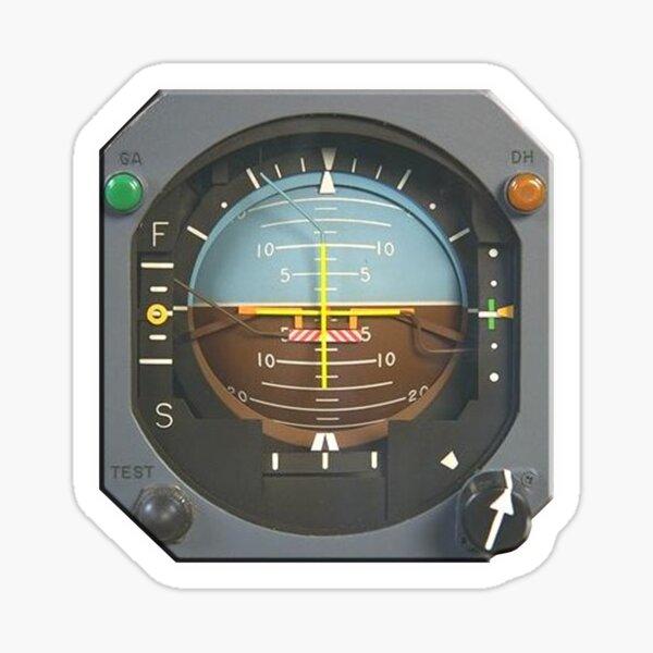 FLIGHT. AIRCRAFT INSTRUMENTS. Aircraft Attitude Indicator Instrument. Sticker