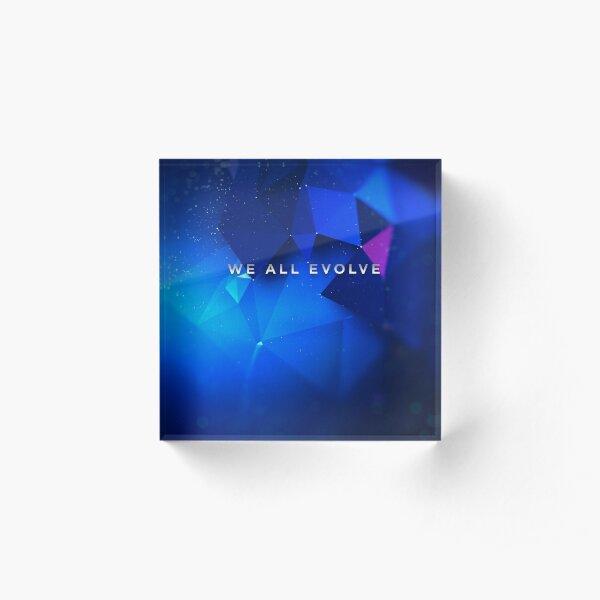 "Detroit Evolution - ""We All Evolve"" tagline  Acrylic Block"