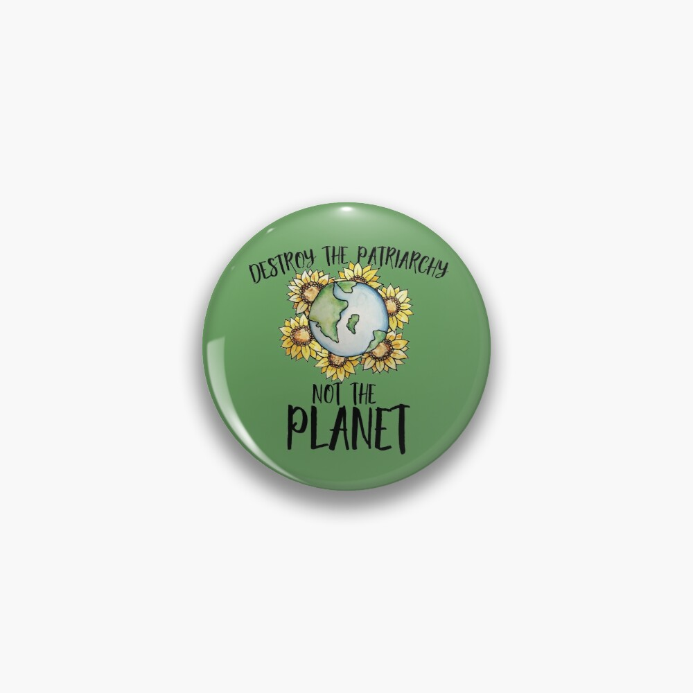 Destroy the patriarchy not the planet Pin