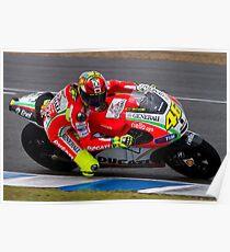Valentino Rossi in Jerez 2012 Poster