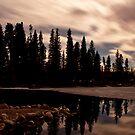 Columbine Lake at Night by JRRouse