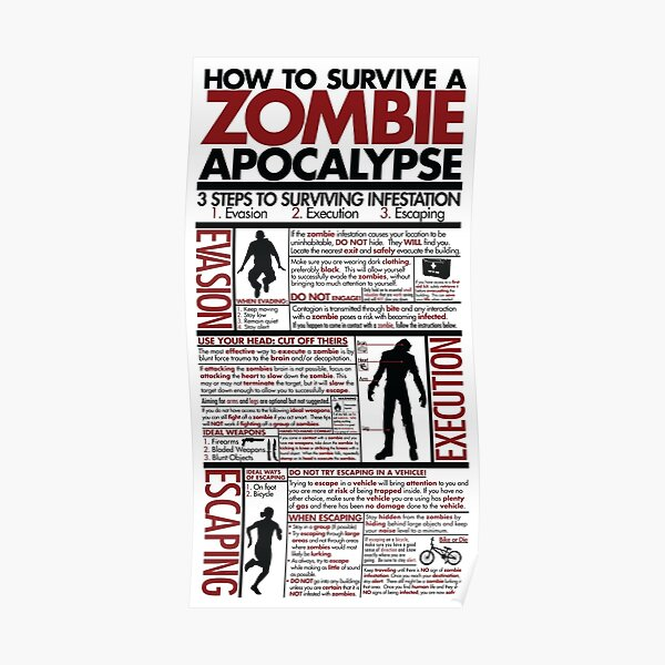 How To Survive A Zombie Apocalypse Poster