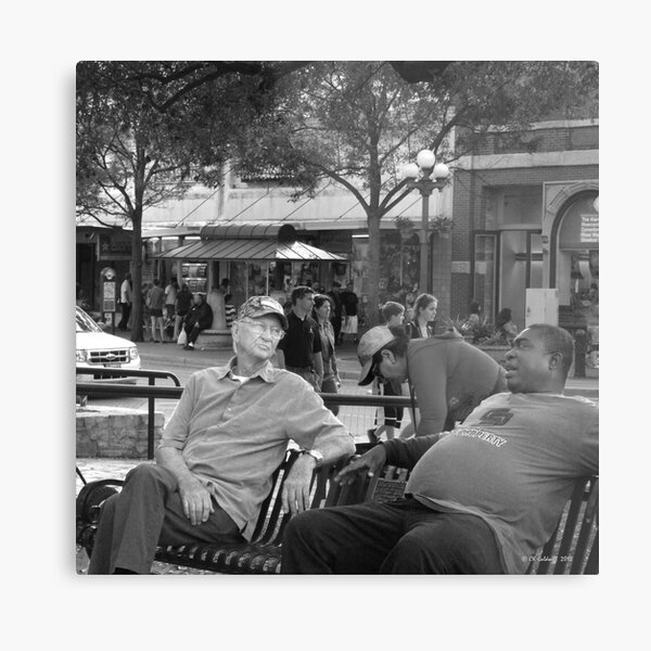 In A Deep Discussion Metal Print