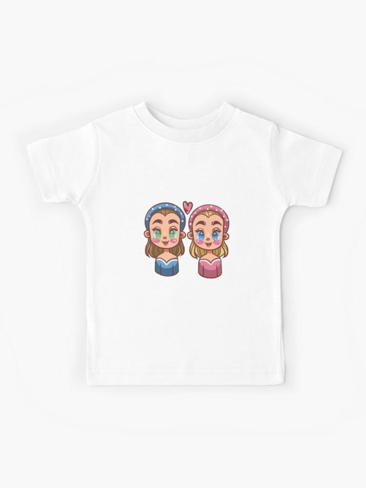 T Shirt Enfant Meilleures Sœurs Bff Impression De Dessin Anime Mignon Par Whiterose Art Redbubble