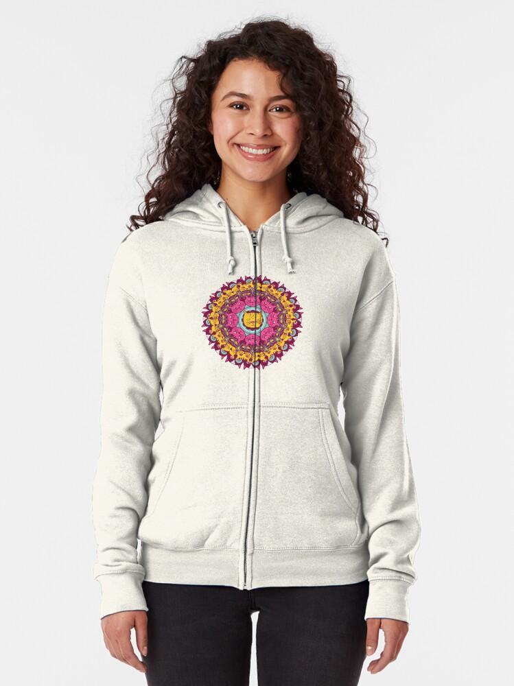 Womens Hoodie Vintage Mandala Pullover Long Sleeve Comfortable Lightweight Sweatshirt with Pocket