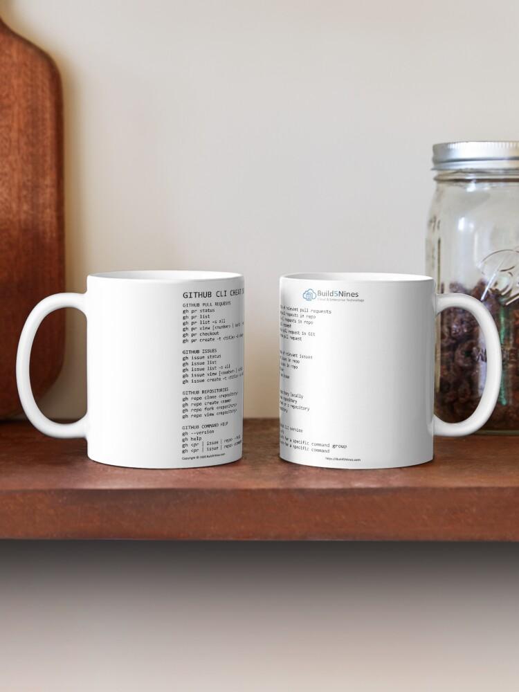 Alternate view of GitHub CLI Cheat Sheet from Build5Nines.com Mug