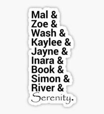 Firefly (Serenity) Names Sticker