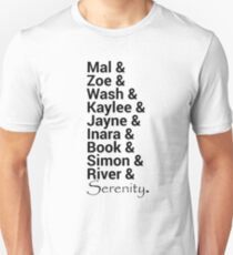 Firefly (Serenity) Names T-Shirt