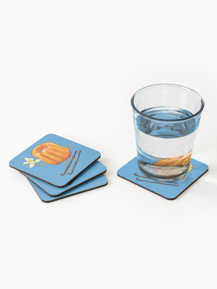 Alternate view of Cute canelé and vanilla Coasters (Set of 4)