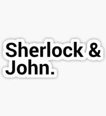 Sherlock Character Names  Sticker