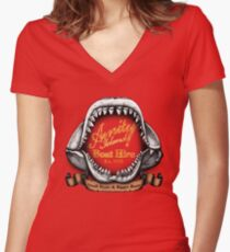 Amity Island Boat Hire Women's Fitted V-Neck T-Shirt