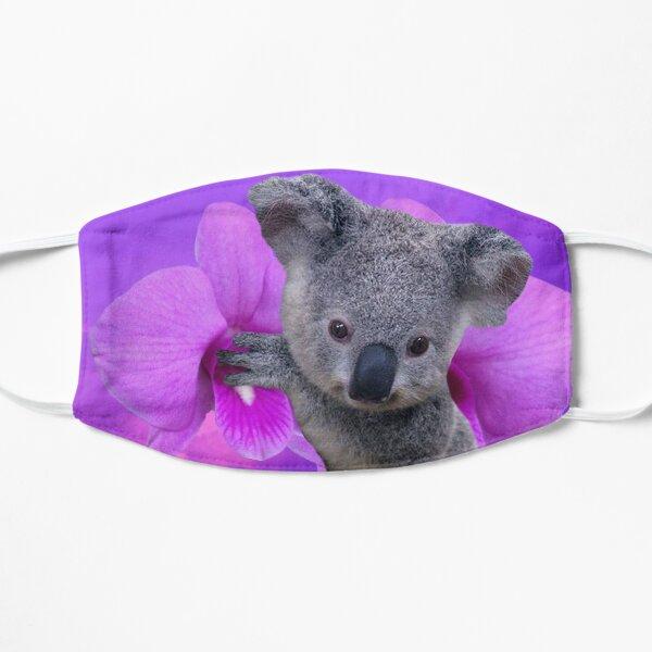 Koala and Orchids Flat Mask