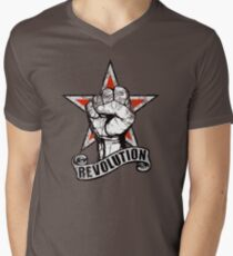 Up The Revolution! Men's V-Neck T-Shirt