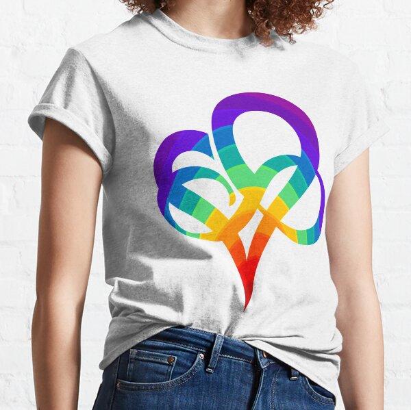 INFINITY HEART | Poly Pride | Polyamory symbol Classic T-Shirt