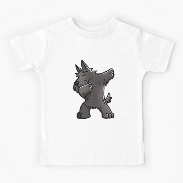 Funny Dabbing Scottish Terrier Dog Kids T-Shirt