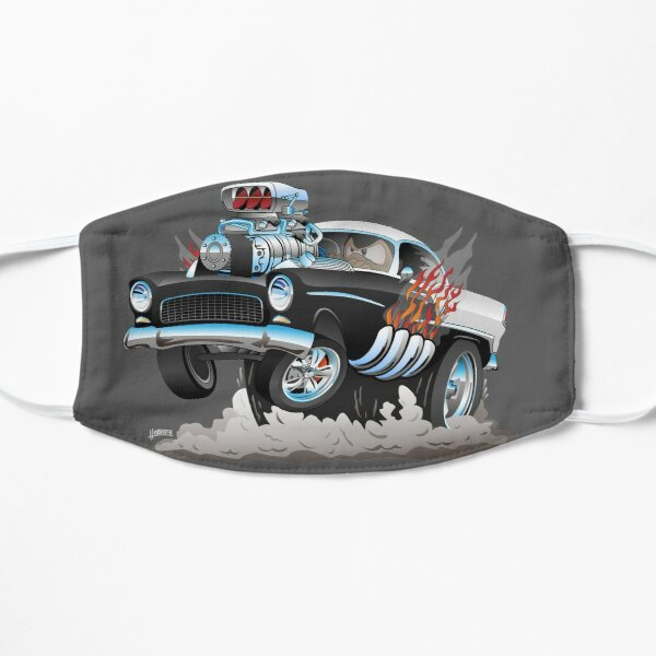 Classic 55 Hot Rod Funny Car Cartoon Mask