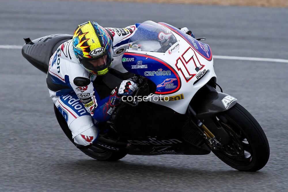Karel Abraham  in Jerez 2012 by corsefoto