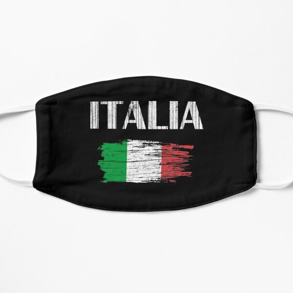 Italia Italian Flag Vintage Graphic - Italy Lovers Tourists Souvenir Cool National Gift Flat Mask