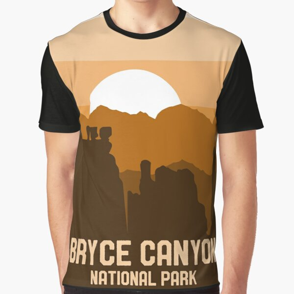 Vintage Bryce Canyon National Park Utah Retro Souvenir Style Graphic T-Shirt