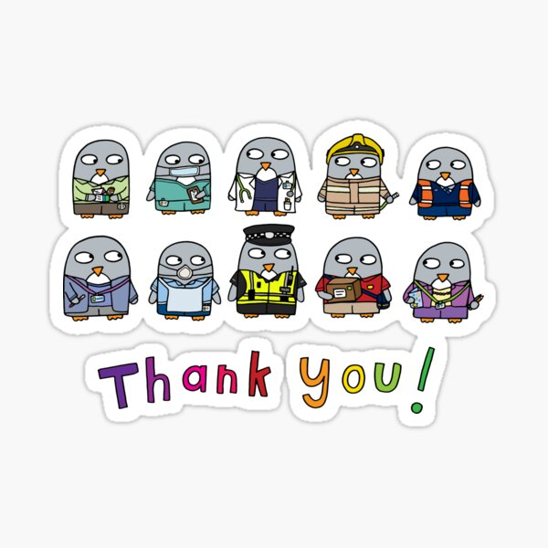 Thank you Key Workers! Sticker