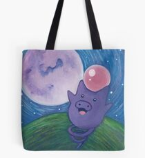 Pokemon Painting - Spoink Tote Bag