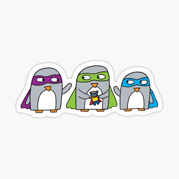Superhero penguin friends Sticker