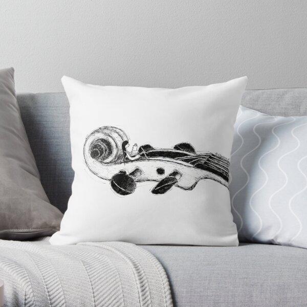 Violin & Me Throw Pillow