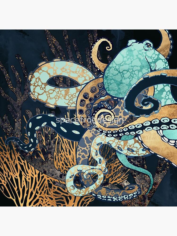 Metallic Octopus II by spacefrogdesign