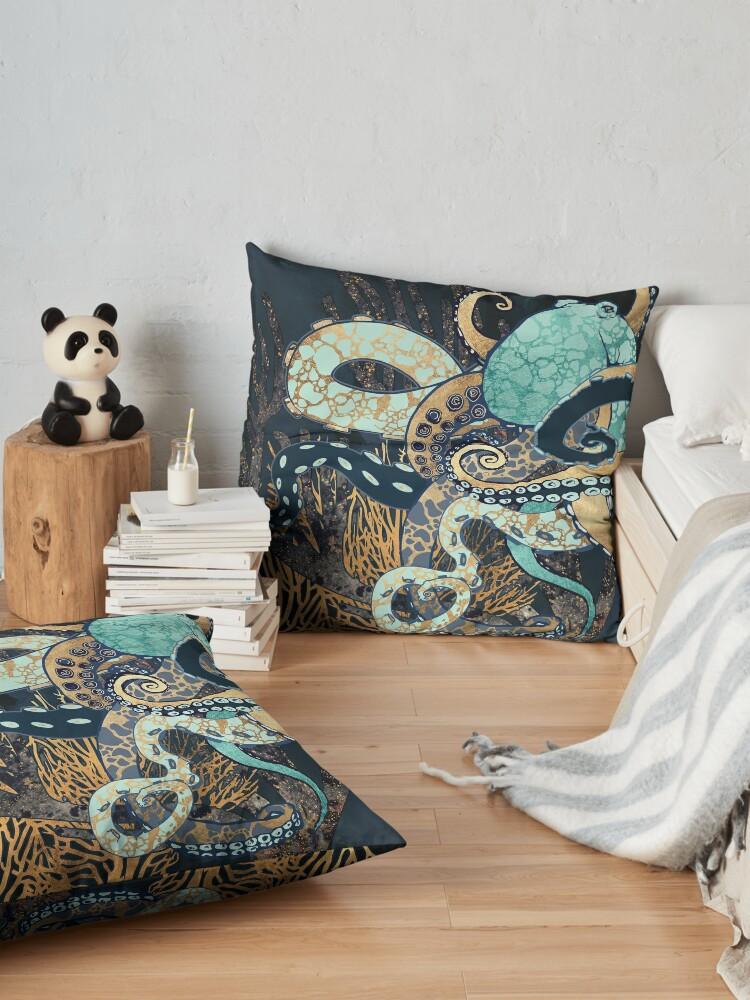 Alternate view of Metallic Octopus II Floor Pillow