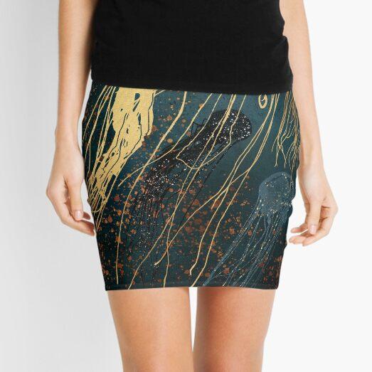 Metallic Jellyfish Mini Skirt
