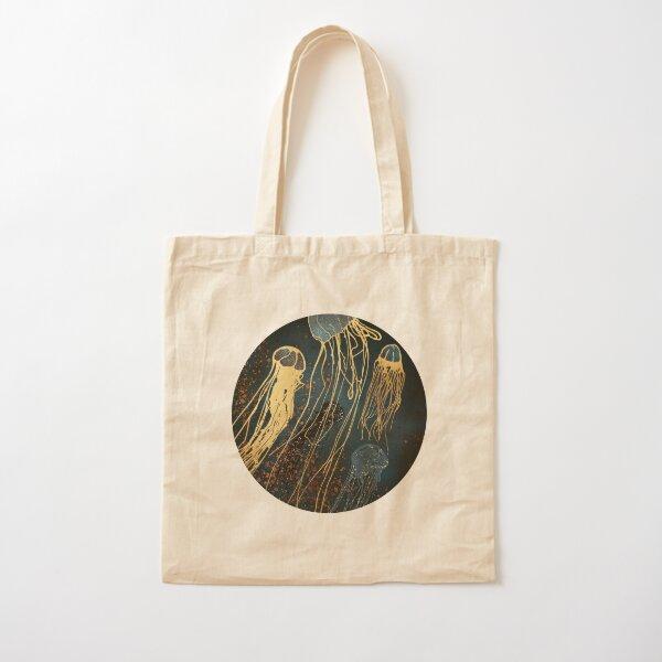 Metallic Jellyfish Cotton Tote Bag